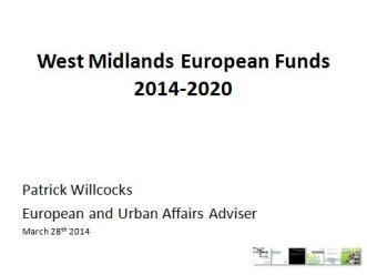 European Funding Presentation