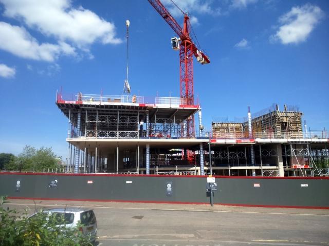 ICentrum - under construction June 2015